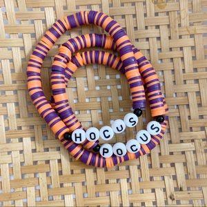 Hocus Pocus Boho Clay Bracelet Stack Halloween